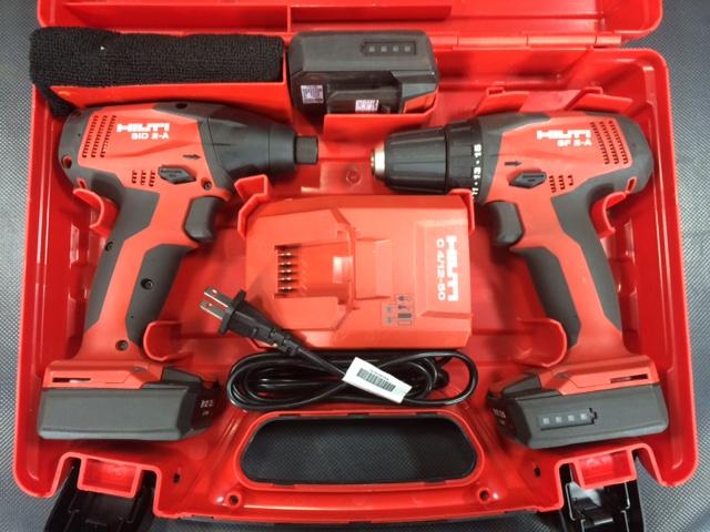SIDSF2A 三重にて 工具、ヒルティ 充電式インパクト ドリルドライバーセットを買い取りいたしました。