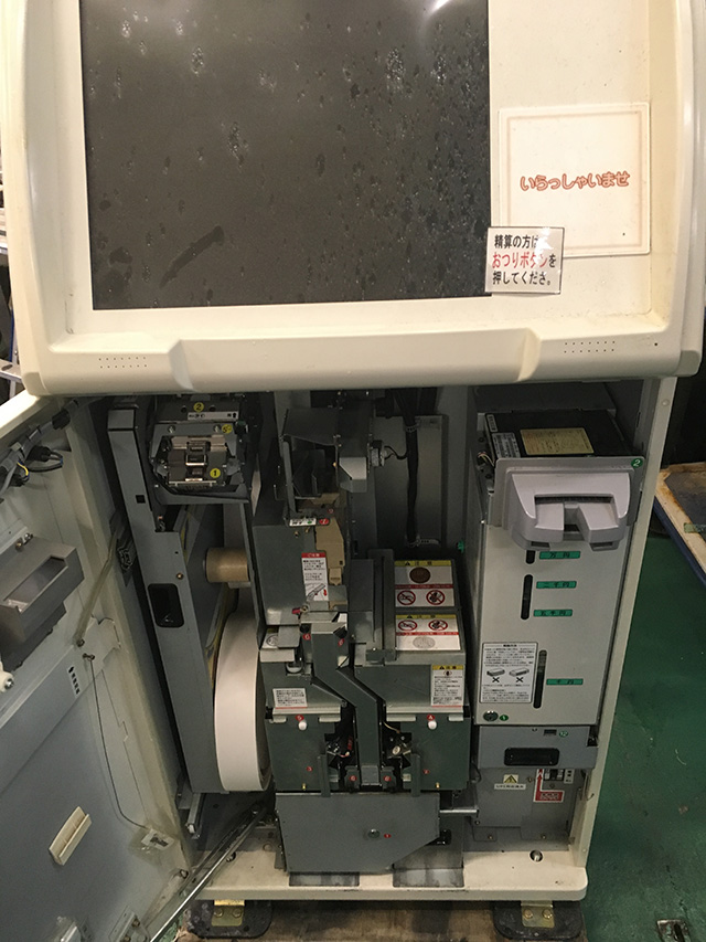 DTV 1100 2 愛知にて、厨房機器 寺岡精工 タッチパネル式券売機 DTV 1100 10Kを買取いたしました。