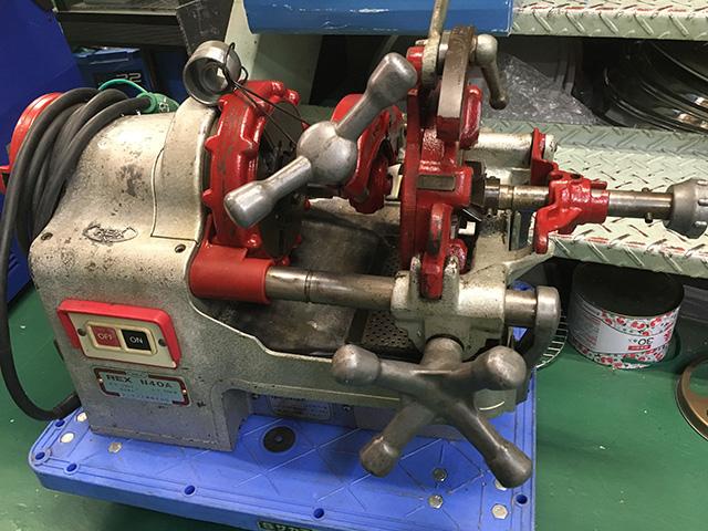 N80A 工具 REX パイプマシン ねじ切り機2台買い取りいたしました。