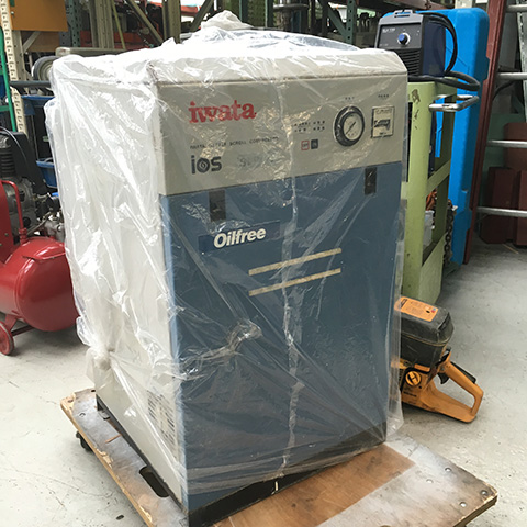 SLP 15 工具 アネスト岩田 オイルフリースクロールコンプレッサー SLP15買い取りいたしました。