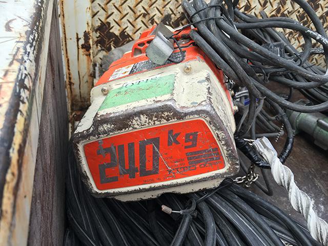 ED24S 工具 キトー 240kg電動チェーンブロック ED24Sを買取致しました。