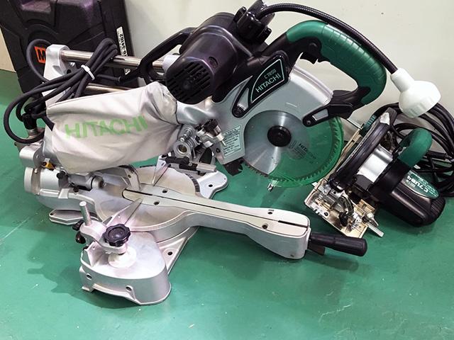 C7RSB 愛知にて、工具、日立工機卓上スライド丸のこ、電動丸ノコをまとめて買取いたしました。