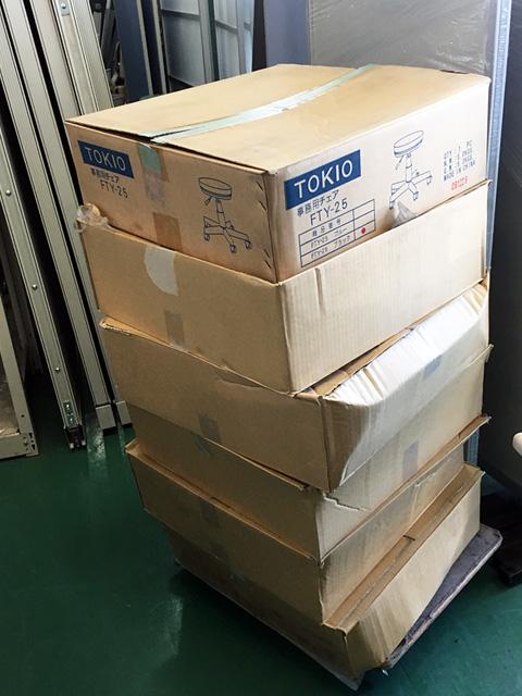 FTY 25 2 愛知にて、オフィス家具、TOKIO 事務用チェアFTY 25ブラックを多数買取いたしました。