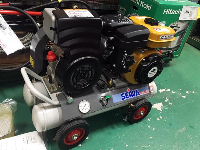 SC 15GRS 愛知にて、工具 精和 エンジンコンプレッサーSC 15GRSを買取いたしました。