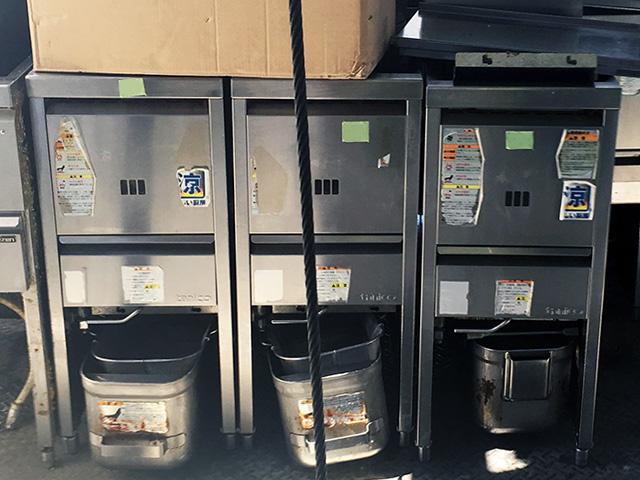 tanico gasflyer 愛知にて、厨房機器 タニコー製ガスフライヤーをまとめて買取いたしました。