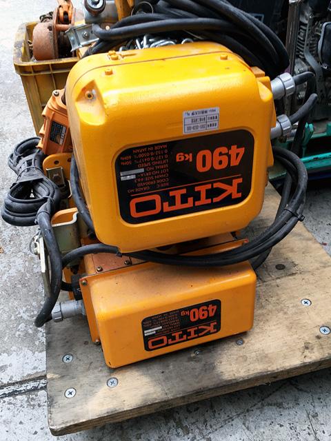 KITO IBBQ490 三重にて、工具 KITO 電動ホイストIBBQシリーズを買取致しました。