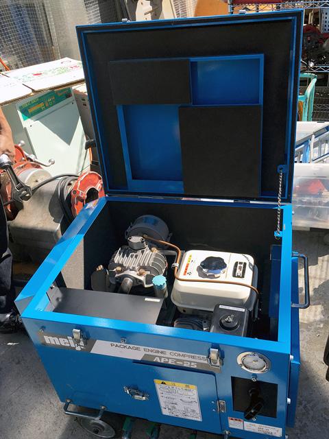 APE 25 OPEN 三重にて、工具 明治エンジンコンプレッサーAPE 25を買取致しました。